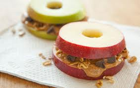 Peanut Butter Apple Slices for Paleo Lunch